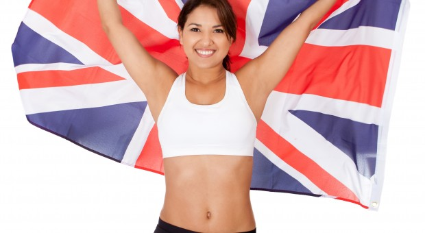 Athlete with the UK flag
